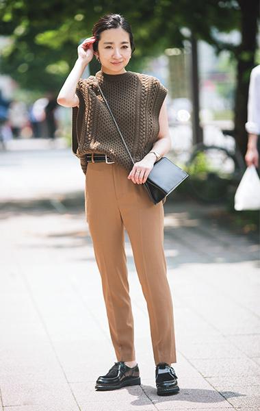 「PANTS」を着こなし! ストレッチ力抜群のパンツで、たくさん歩く週末ショッピングもラクラク