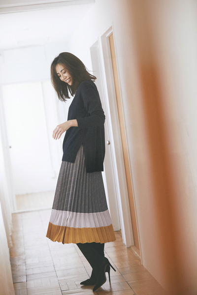 「LAUTREAMONT|ロートレアモン」のニット・「TONAL|トーナル」スカート