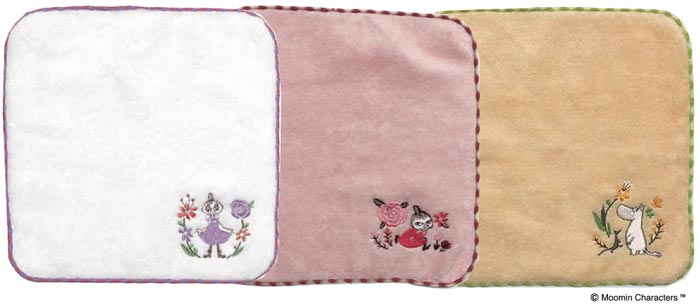 刺繍ミニタオル フラワーリース