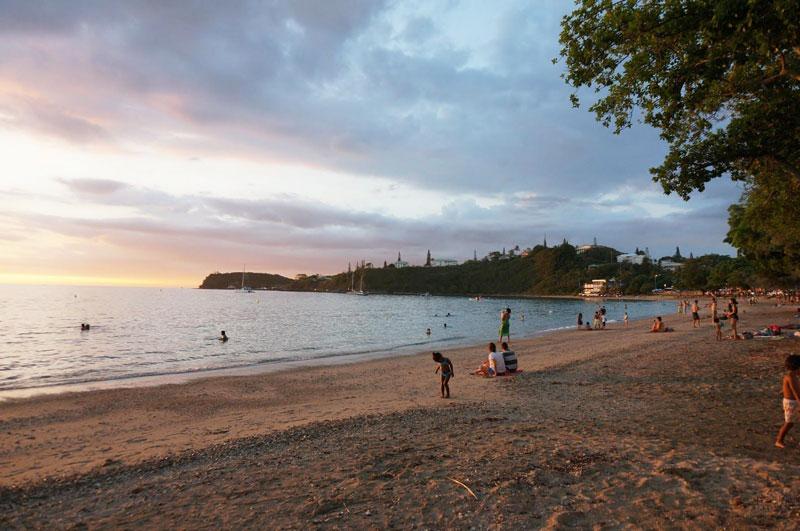 シトロンビーチで夕陽
