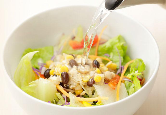 キユーピー スープ仕立てのサラダ用 お湯を注ぐ