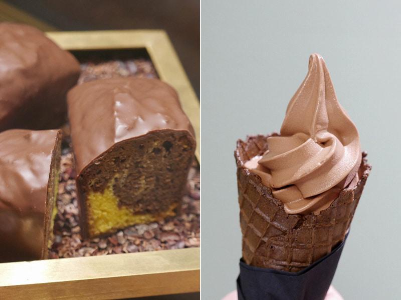 「ケーク・ショコラ/シトロン」「ソフトクリーム」