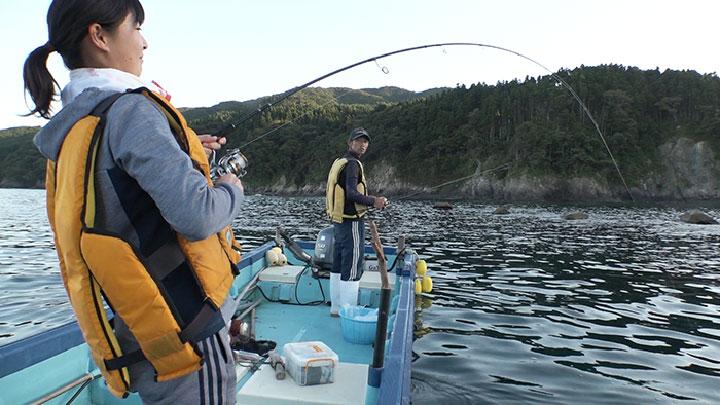 休日は彼氏と釣りを楽しむ