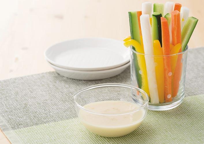 豆乳ヨーグルトドレッシング&豆乳と食べるラー油のドレッシング