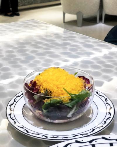ミモレットチーズとカラマンシーヴィネガーのサラダ