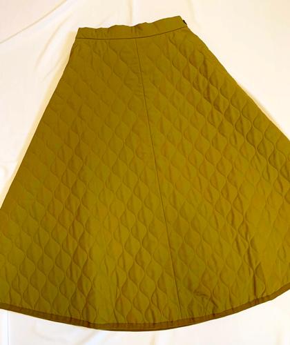 GU キルトフレアロングスカート
