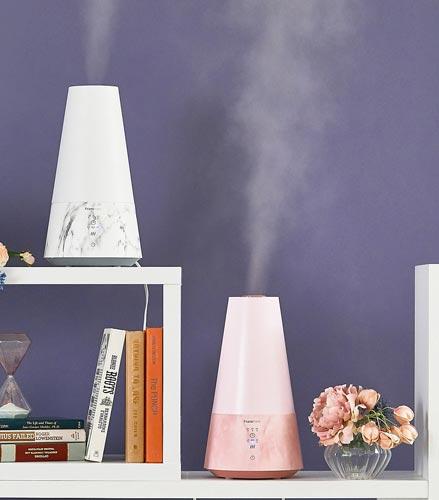 フレア加湿器 ピンク/ホワイト