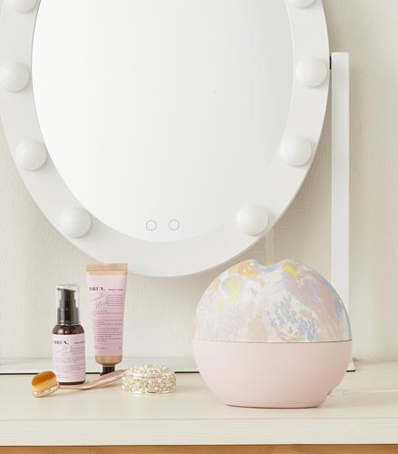 メリリー加湿器 花柄ライトピンク/花柄ピンク/ホワイト/ピンク