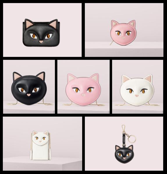 猫をモチーフにしたハンドバッグやレザー小物