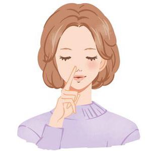片方の鼻で交互に鼻呼吸