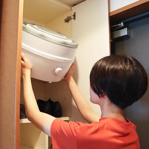 折りたたみ洗濯機 コンパクトに収納可能