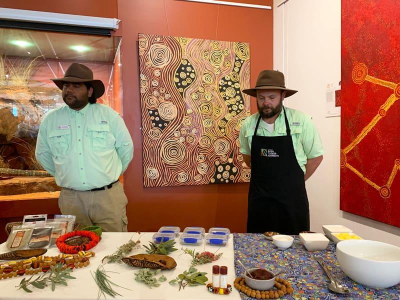 先住民の人たちの料理