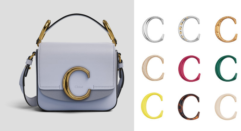 CHLOĒ C mini square bag