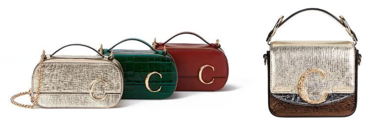 CHLOĒ C vanity bag、CHLOĒ C mini square bag