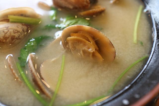 貝のお味噌汁