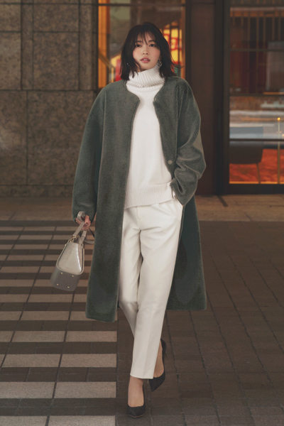 ボアアウター|リッチで女らしい冬コーデ
