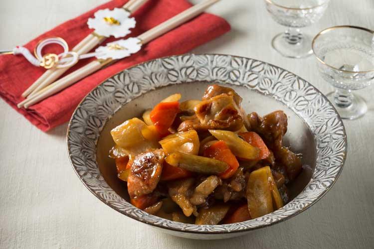 鶏肉と根菜のあめ煮