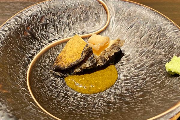 煮アワビ・肝リゾット(にぎり)