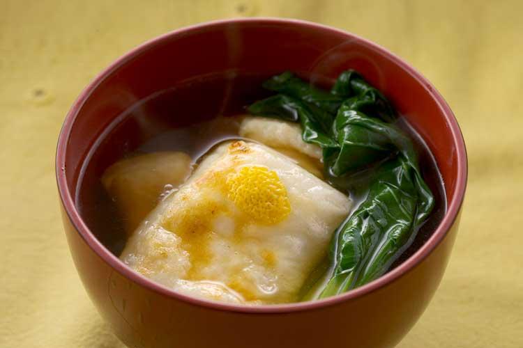 鶏と小松菜のお雑煮