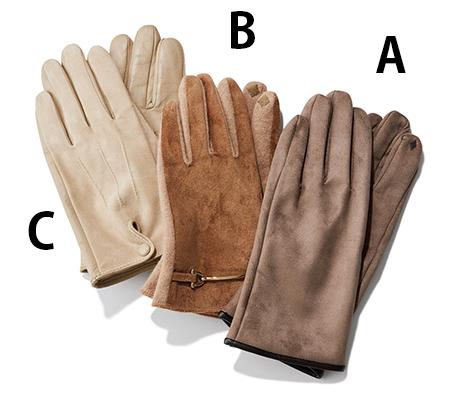 【2】きちんと感のあるスマホ対応のレザー手袋