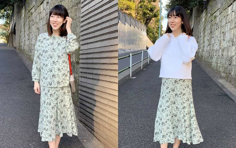 【4】白柄スカート