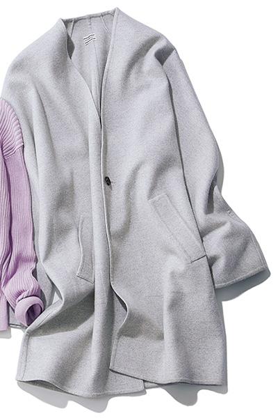 高品質なウールの薄手コート