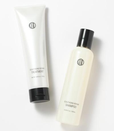 頭皮にやさしいシルクとコラーゲンで洗う