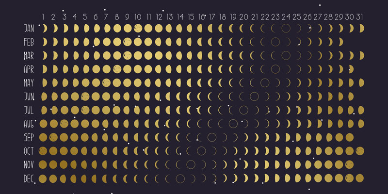 カレンダー 2020 満月 The Moon