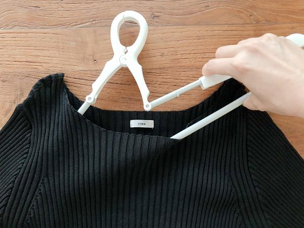 ロハコ|洗濯ハンガー スライドキャッチハンガー 型くずれ防止パット付