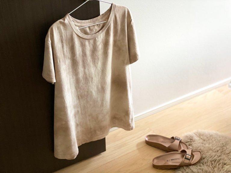 落ち着いたカラーのタイダイ柄Tシャツ ドゥーズィエムクラス