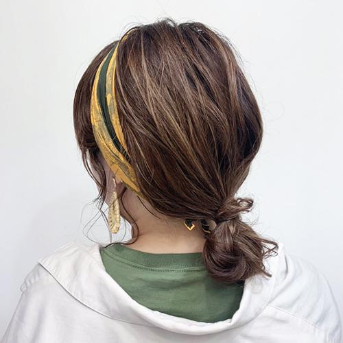 2分ですっきりまとめ髪