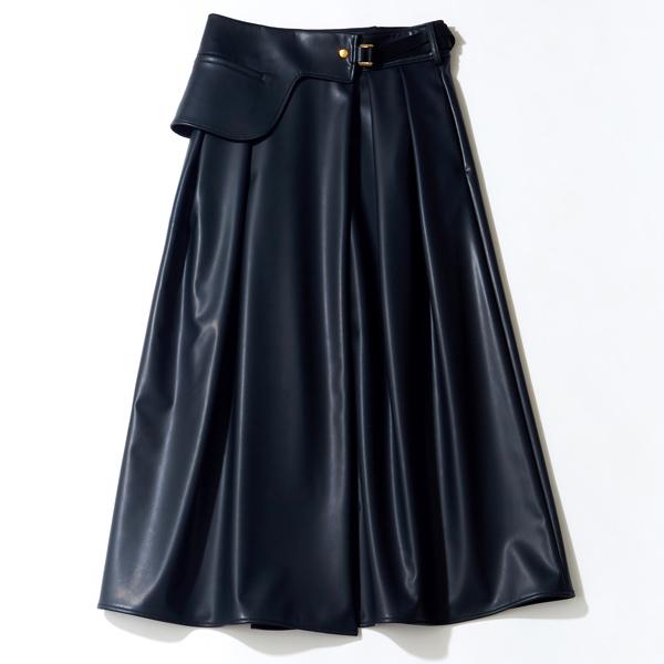 THE RERACSのエコレザースカート