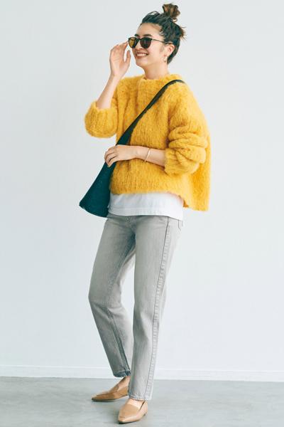 ポップな色を軽快に着る冬コーデ