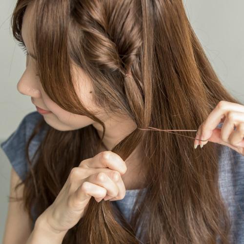 髪が多い人におすすめのサイドアレンジ