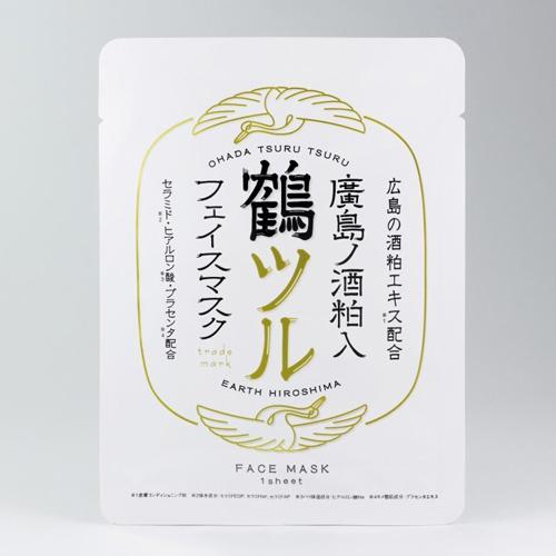 EARTH Hiroshima【廣島ノ酒粕入 フェイスマスク 鶴ツル】