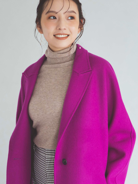 こっくり果実色ロングコート