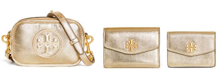 エレガントなゴールド財布
