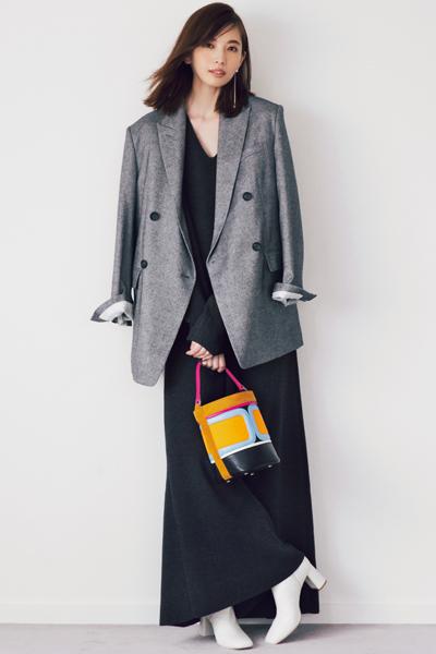 【12/4のコーデ】マキシワンピ×ショートブーツでつくる新鮮バランス