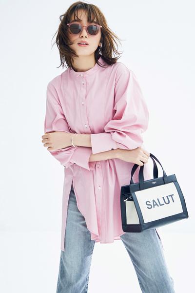【2/23のコーデ】今春のトレンド! ピンクのシャツをカッコよく着こなす♡