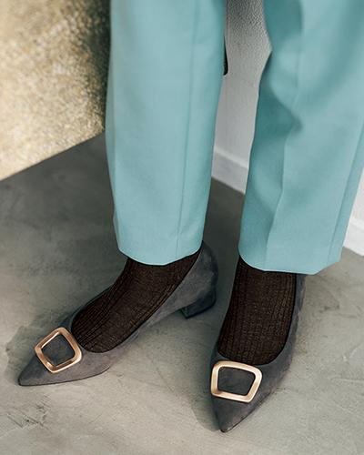 ポイント1:靴下を靴になじませる