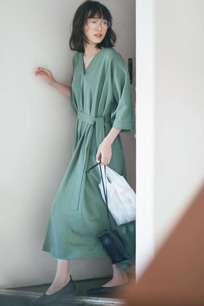 【3/24のコーデ】朝時間を豊かにする! 着るだけでサマになるワンピース♡