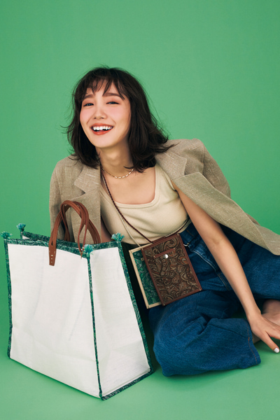 【3/13のコーデ】週末の買い物DAY… コーデの主役はお気に入りのバッグ♪