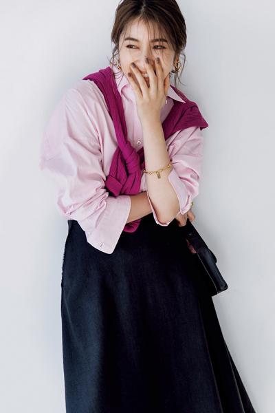 """【4/19のコーデ】ピンクの2色使いで、週のあたまは""""ちょっぴり派手め""""に♡"""