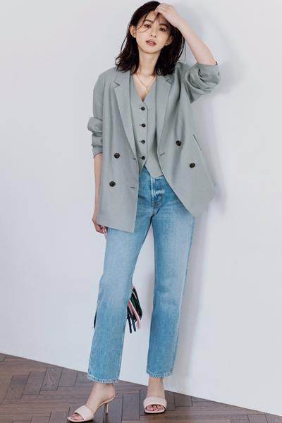 【4/12のコーデ】新鮮なハンサムさに釘付け! いつもより「2割派手め」なジャケット&ベストスタイル