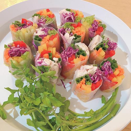 見た目にも鮮やか&野菜で満腹感!「カラフル生春巻き」