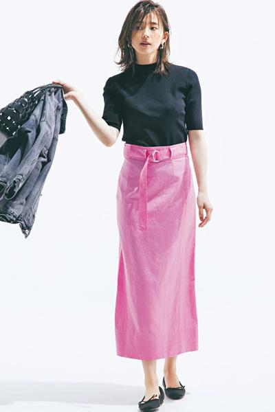 【6/9のコーデ】配色や小物で大人ピンクに進化させるなら?