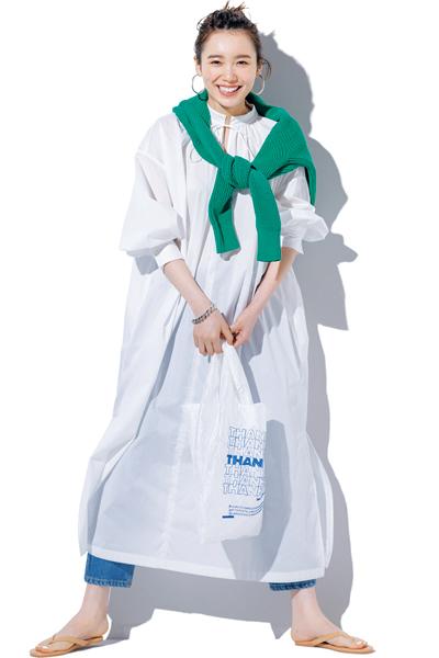 【6/12のコーデ】透け感ありカフタンワンピで、軽やか&ヘルシーに!