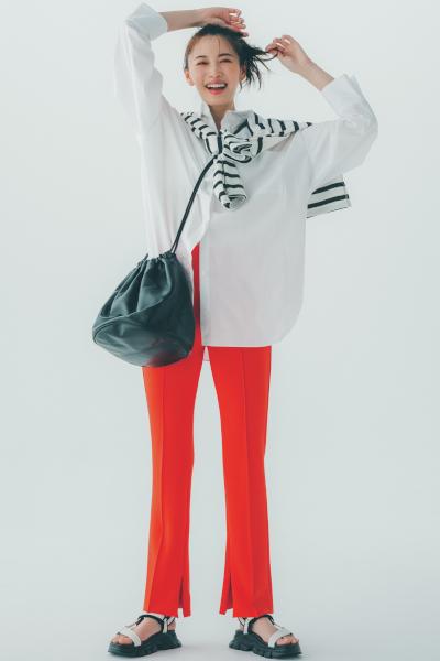 【9/7のコーデ】着こなしが即今っぽくなる… 着映えカラーパンツに注目!