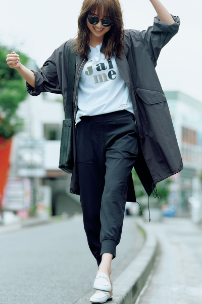 【8/21のコーデ】ジョガーパンツを大人カジュアルに着こなすコツ!