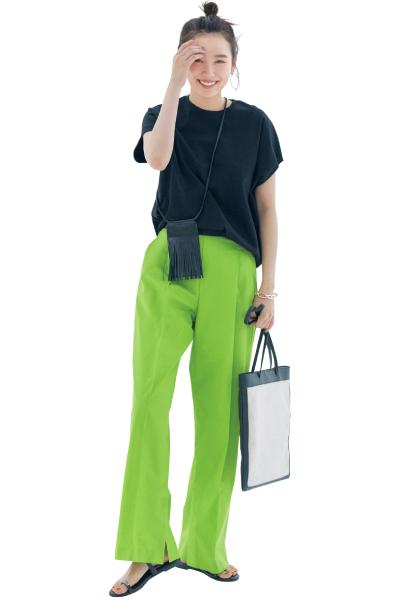 【8/31のコーデ】キレのいい派手色パンツ… うまく着こなすコツは?